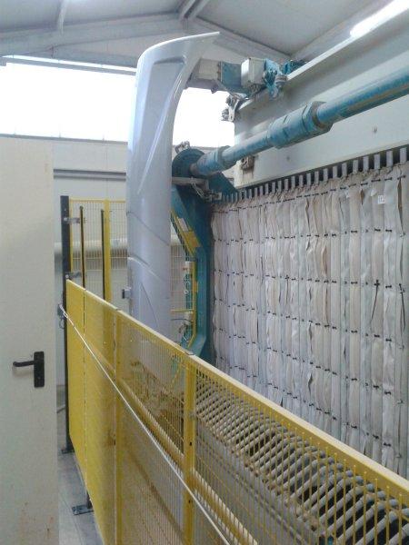 Installato nuovo gruppo di lavaggio filtro pressa